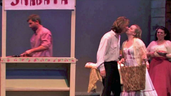 Frank, Anthony kissing Angelique, and Marie